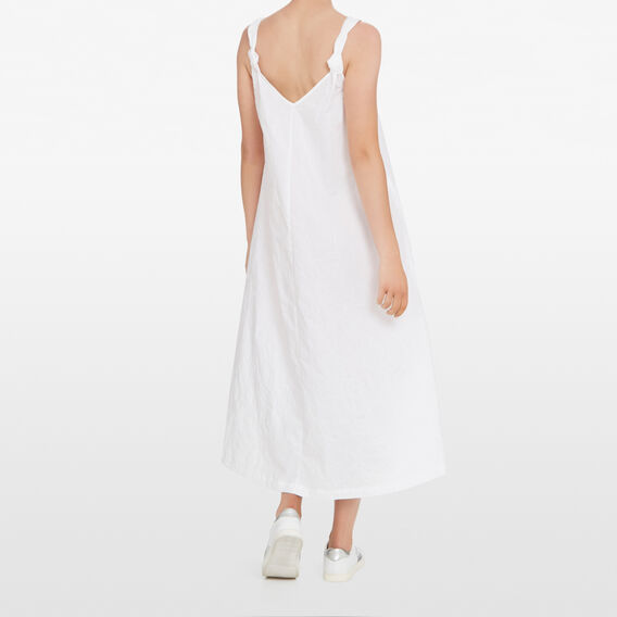 FLORAL EMBROIDERED MAXI  SUMMER WHITE  hi-res