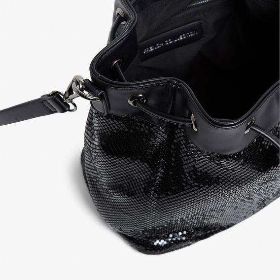 GLOW MESH BUCKETBAG  BLACK  hi-res