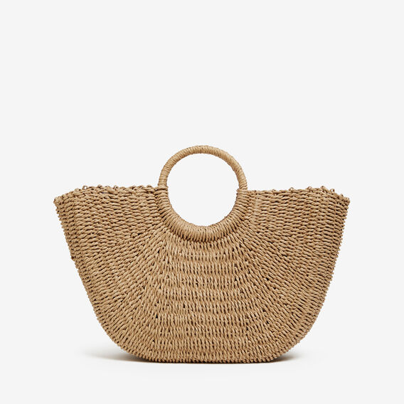 STRAW TOTE  NATURAL  hi-res