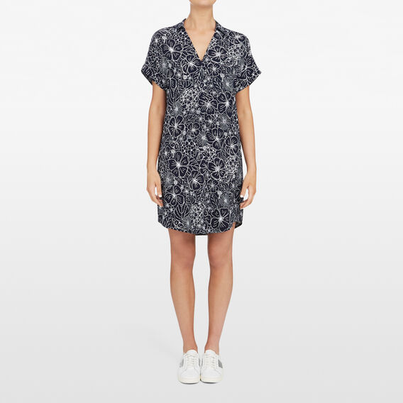BEACH FLORAL DRESS  NOCTURNAL/SUMMER WHI  hi-res