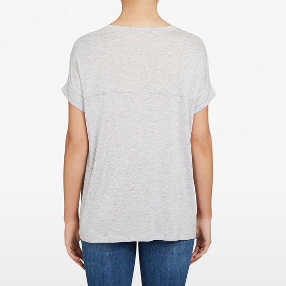 RELAXED SPECKLE TEE  GREY MARLE/RED/NOCTU  hi-res