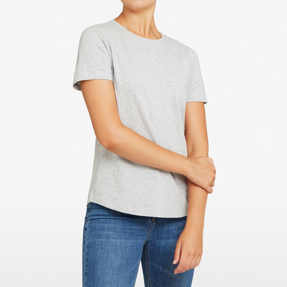 ESSENTIAL CREW NECK TEE  GREY MARLE  hi-res
