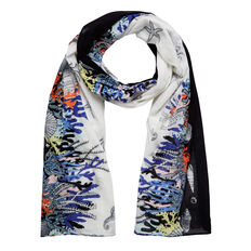 UNDER THE SEA SCARF  WHITE MULTI  hi-res