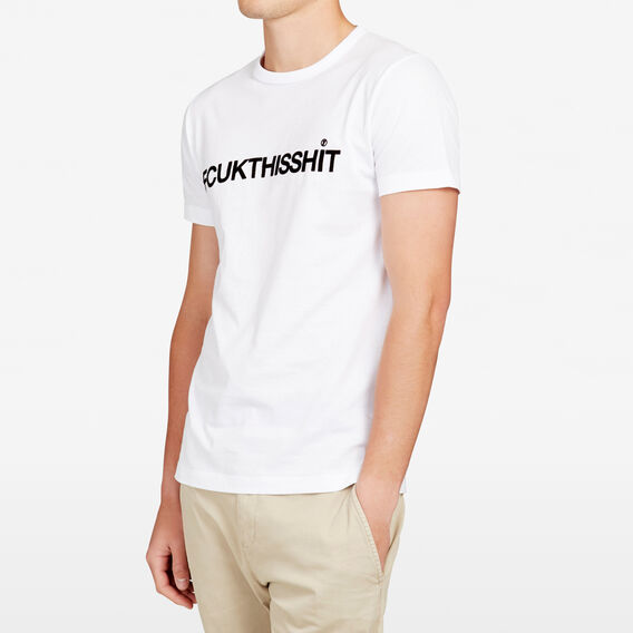 FCUKTHISSHIT CREW NECK T-SHIRT  WHITE  hi-res