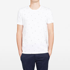 MARINA ALL OVER CREW NECK T-SHIRT  WHITE  hi-res