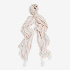 WOVEN STRIPE SCARF  SUMMER WHITE/MULTI  hi-res
