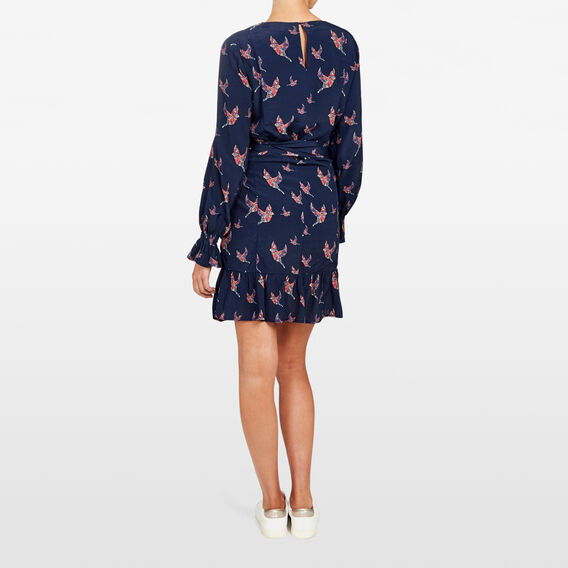 BOTANICAL BIRD DRESS  NOCTURNAL MULTI  hi-res
