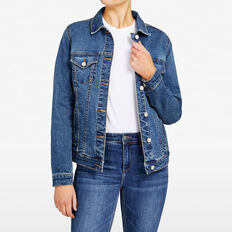 STRETCH DENIM JACKET  DARK STONE WASH  hi-res