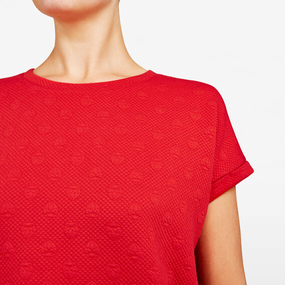 TEXTURED SPOT SWEAT  STRAWBERRY  hi-res