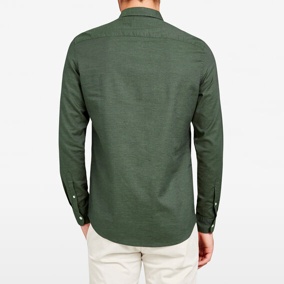 PINE MELANGE CUSTOM FIT SHIRT  PINE GREEN  hi-res