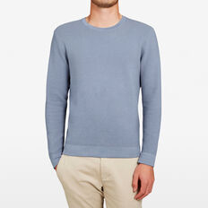 RIB CREW NECK KNIT  CHALK BLUE  hi-res