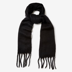 FLUFFY CHUNKY SCARF  BLACK  hi-res