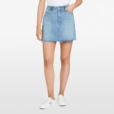 STONE WASH MINI SKIRT  STONE WASH  hi-res