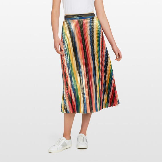 RAINBOW PLEATED SKIRT  MULTI  hi-res