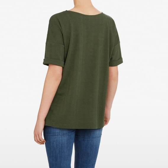 TEXTURED RELAXED TEE  KHAKI  hi-res