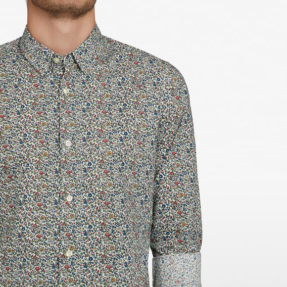 VINTAGE FLORAL CUSTOM FIT SHIRT  WHITE/MULTI  hi-res