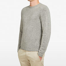 SPECKLE CREW NECK KNIT  GREY  hi-res