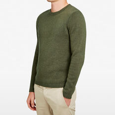 SPECKLE CREW NECK KNIT  OLIVE  hi-res