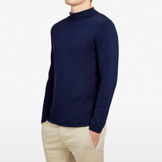 ROLL NECK KNIT  MARINE BLUE  hi-res
