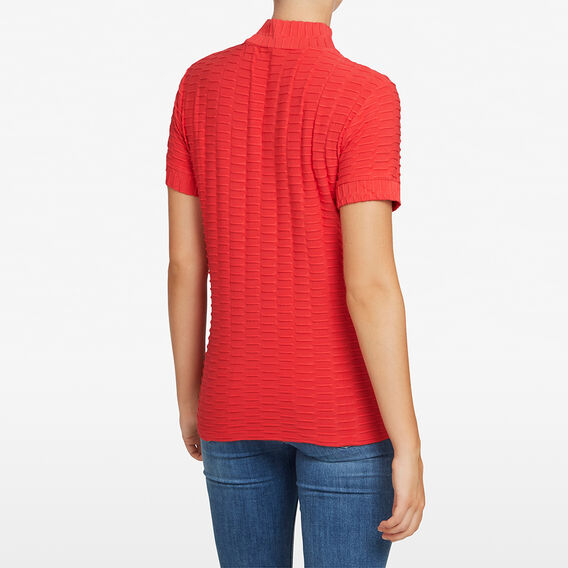 TEXTURED SLOUCHY TEE  RED  hi-res