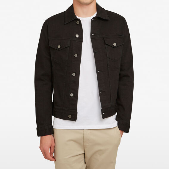 STRETCH DENIM JACKET  BLACK  hi-res