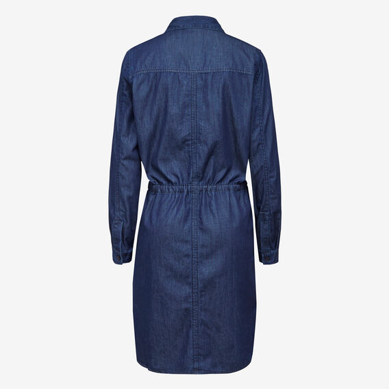 LIGHT WEIGHT DENIM DRESS  INDIGO  hi-res