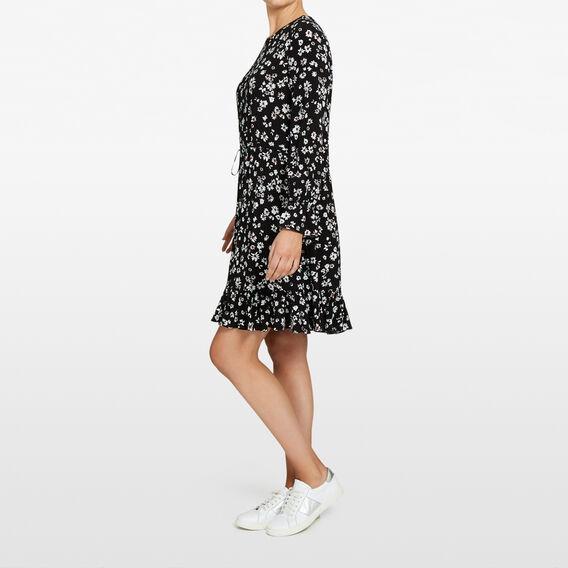 DAISY PRINTED DRESS  BLACK/SUMMER WHITE  hi-res