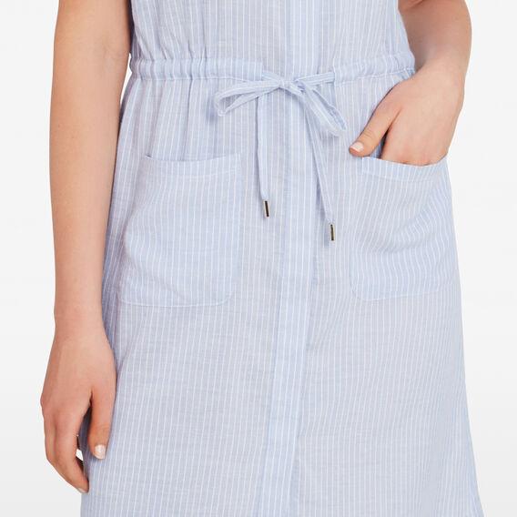 STRIPE SHIRT DRESS  CHAMBRAY/SUMMER WHIT  hi-res