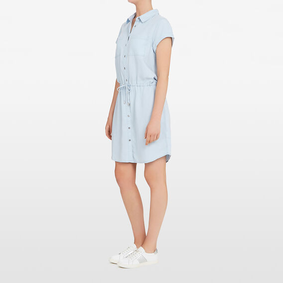 TENCEL SHIRT DRESS  CHAMBRAY  hi-res