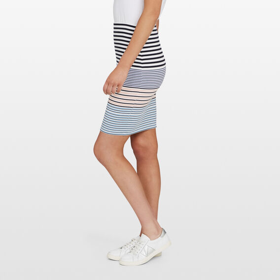 BODYCON STRIPE SKIRT  MULTI  hi-res