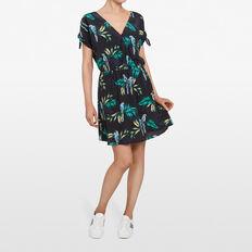 PARADISE PRINT DRESS  BLACK/MULTI  hi-res
