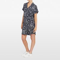 BEACH FLORAL DRESS  NOCTURNAL/SUMMER WHI  hi-res