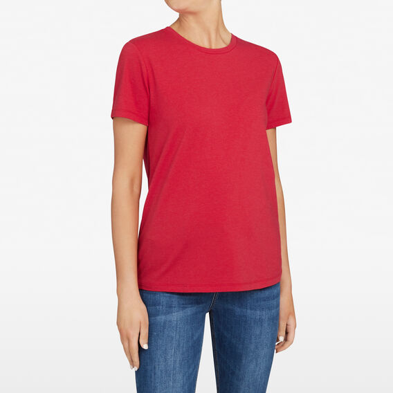 CREW NECK TEE  RED MARLE  hi-res
