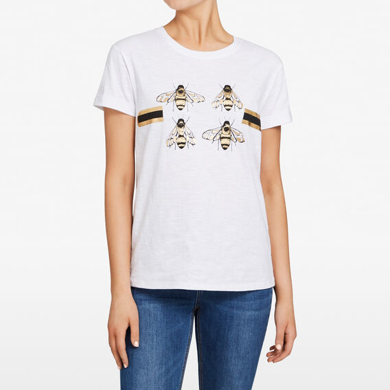 FOUR BEES TEE  SUMMER WHITE MULTI  hi-res