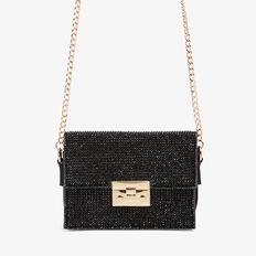 SPARKLE CLUTCH BAG  BLACK/BLACK  hi-res