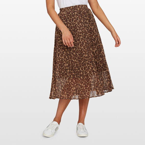 PLEATED MIDI SKIRT  DARK ANIMAL  hi-res