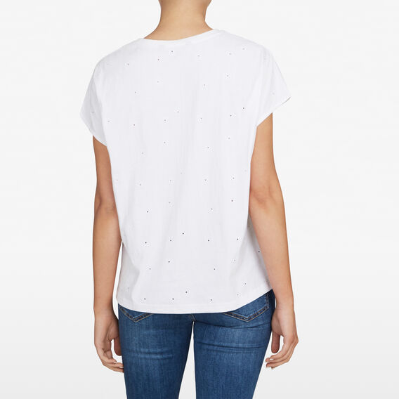 EMBROIDERED DAISY TEE  SUMMER WHITE  hi-res