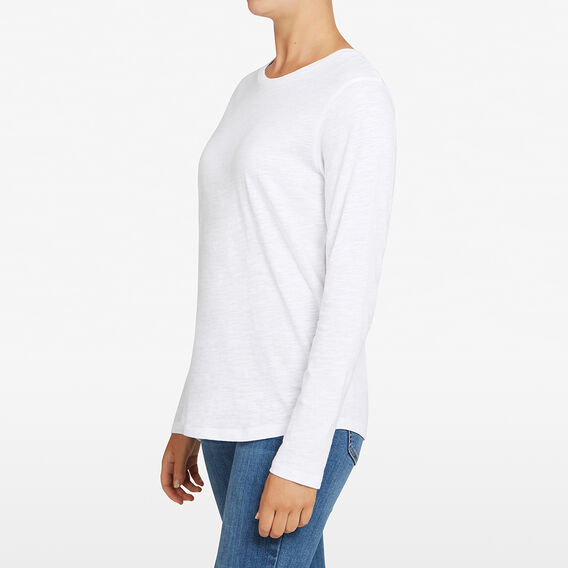 ESSENTIAL LONGSLEEVE CREW NECK  WHITE  hi-res