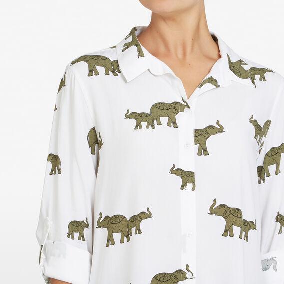 ROAMING ELEPHANTS CORE SHIRT  OFF WHITE/MULTI  hi-res