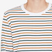 CAMEL STRIPE LONG SLEEVE T-SHIRT  WHITE  hi-res