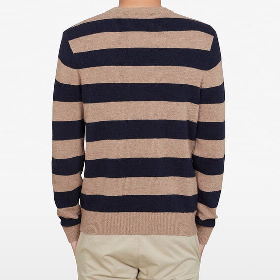 CAMEL STRIPE KNIT  CAMEL/ NAVY  hi-res