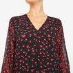 POPPY PRINTED DRESS  BLACK/RED  hi-res