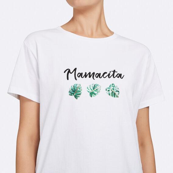 MAMACITA TEE  SUMMER WHITE/LEAF GR  hi-res