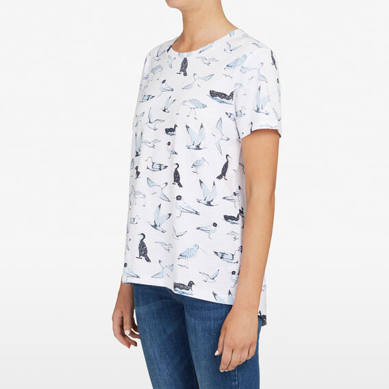 BIRDS OF THE SEA TEE  SUMMER WHITE/NOCTURN  hi-res