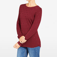 LUREX SPOT KNIT  BURGUNDY  hi-res