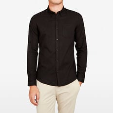 OXFORD CUSTOM FIT SHIRT  BLACK  hi-res
