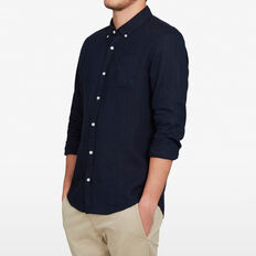LINEN CLASSIC FIT SHIRT  OXFORD BLUE  hi-res