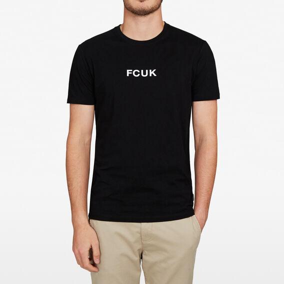 FCUK LOGO T-SHIRT  BLACK  hi-res