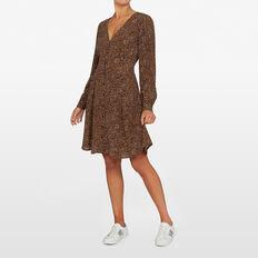 SPOT LONG SLEEVE  DRESS  TOFFEE/MULTI  hi-res