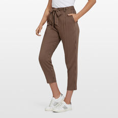 STRIPE DRAPED PANT  BLACK/TAN  hi-res